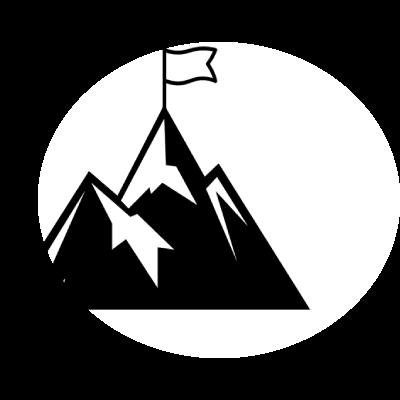 Grafik von einem Berg mit einer Fahne oben drauf um Erfolg zu symbolisieren