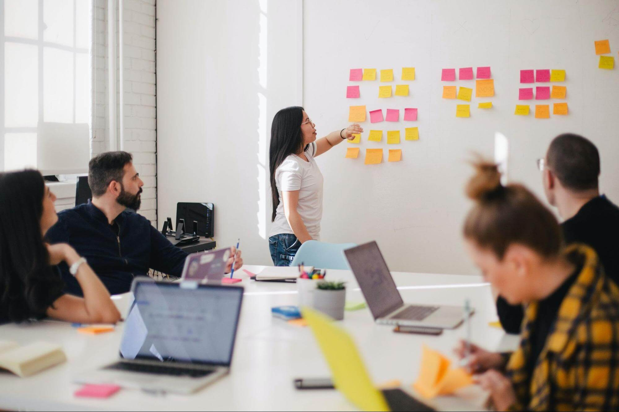 Top 10 Tips for Creating a Small Business Plan notes on whiteboard