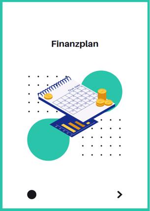 Deckblatt von einem Finanzplan von M&M Consultants